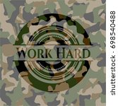 work hard on camouflage pattern | Shutterstock .eps vector #698540488