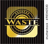 waste gold emblem or badge | Shutterstock .eps vector #698540530