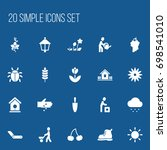 set of 20 editable agriculture...