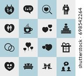 set of 16 editable love icons....