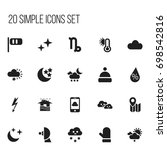 set of 20 editable weather...