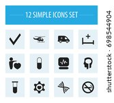 set of 12 editable care icons....
