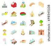 facility icons set. cartoon set ...   Shutterstock .eps vector #698545108