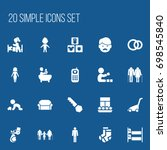 set of 20 editable kin icons....