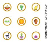 halloween icon set. cartoon...   Shutterstock .eps vector #698545969