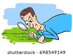 cartoon vector humorous concept ... | Shutterstock .eps vector #698549149