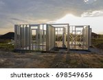Light steel structured house - stock photo