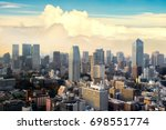 cityscape of tokyo city  japan. ... | Shutterstock . vector #698551774