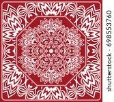 pattern from mandala for the... | Shutterstock .eps vector #698553760