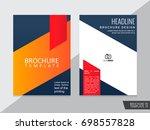 brochure design template vector.... | Shutterstock .eps vector #698557828