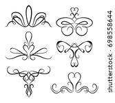 decorative monograms and... | Shutterstock .eps vector #698558644