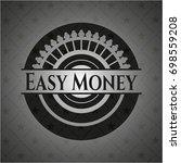 easy money black emblem.... | Shutterstock .eps vector #698559208