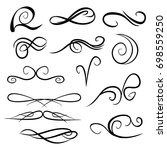 decorative monograms and... | Shutterstock .eps vector #698559250