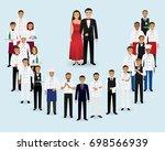 restaurant team. group of... | Shutterstock . vector #698566939