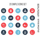 set of 20 editable finance...