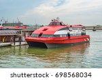 macau outer ferry terminal ... | Shutterstock . vector #698568034