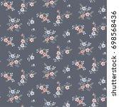 floral seamless pattern  | Shutterstock .eps vector #698568436