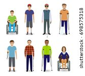 invalid people concept. group... | Shutterstock . vector #698575318