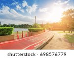 public park and bike routes... | Shutterstock . vector #698576779