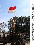 Small photo of Yogyakarta, Indonesia - August 17, 2017: Independence day, Independence day of Indonesia, August 17th Indonesia, Town hall of Yogyakarta, Yogyakarta city, Indonesian | Asian
