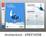 covers book design template... | Shutterstock .eps vector #698576908