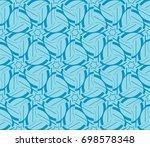 traditional geometric seamless... | Shutterstock .eps vector #698578348