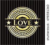 love shiny badge | Shutterstock .eps vector #698581360