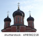 the main church of the donskoy... | Shutterstock . vector #698582218