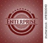 enterprise vintage red emblem | Shutterstock .eps vector #698583040
