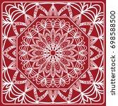 pattern from mandala for the... | Shutterstock .eps vector #698588500