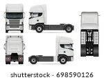 tractor truck vector mock up... | Shutterstock .eps vector #698590126