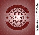 squat vintage red emblem | Shutterstock .eps vector #698593624