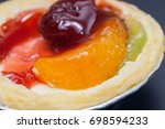 fruit cupcakes  delicious and... | Shutterstock . vector #698594233