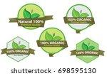 natural label | Shutterstock .eps vector #698595130