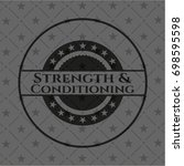 strength and conditioning black ... | Shutterstock .eps vector #698595598