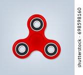 hand spinner fidget vector... | Shutterstock .eps vector #698598160