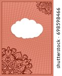 invitation template with white... | Shutterstock .eps vector #698598466