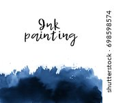 ink wash painting on white... | Shutterstock .eps vector #698598574