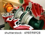 engine pump water exploded view ... | Shutterstock . vector #698598928