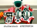 engine pump water exploded view ... | Shutterstock . vector #698598934