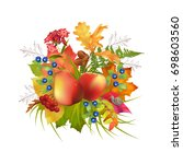 autumn vector composition with... | Shutterstock .eps vector #698603560
