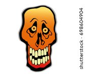 scary halloween scull   Shutterstock .eps vector #698604904