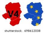 hungary  czech republic  poland ...   Shutterstock .eps vector #698612038