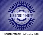 calorie free emblem with jean...   Shutterstock .eps vector #698617438