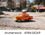 taxi toy | Shutterstock . vector #698618269