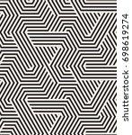vector seamless pattern. modern ... | Shutterstock .eps vector #698619274