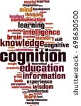 cognition word cloud concept.... | Shutterstock .eps vector #698630500