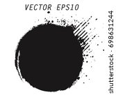 vector grunge circle. grunge... | Shutterstock .eps vector #698631244