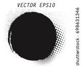 vector grunge circle. grunge... | Shutterstock .eps vector #698631346
