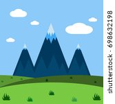 mountains  nature and landscape ... | Shutterstock .eps vector #698632198